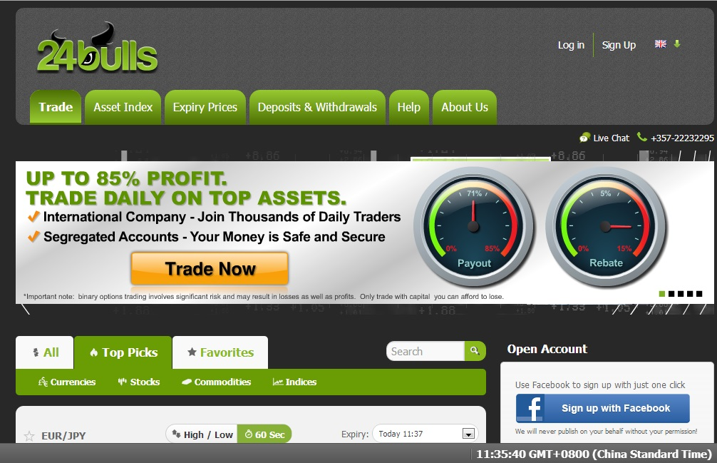 uk binary options brokers