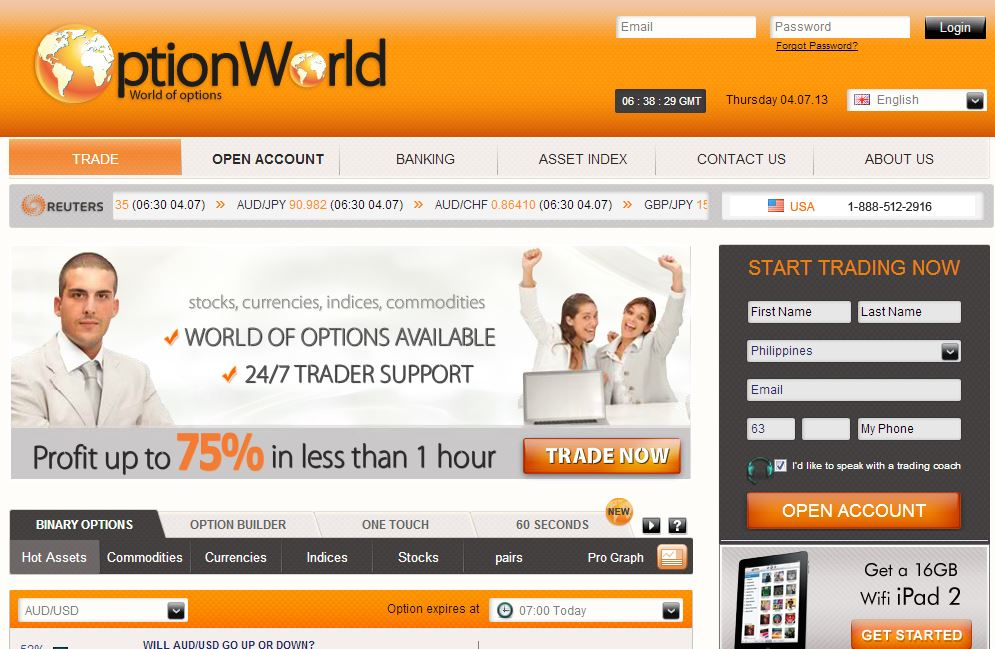 Online options brokers australia