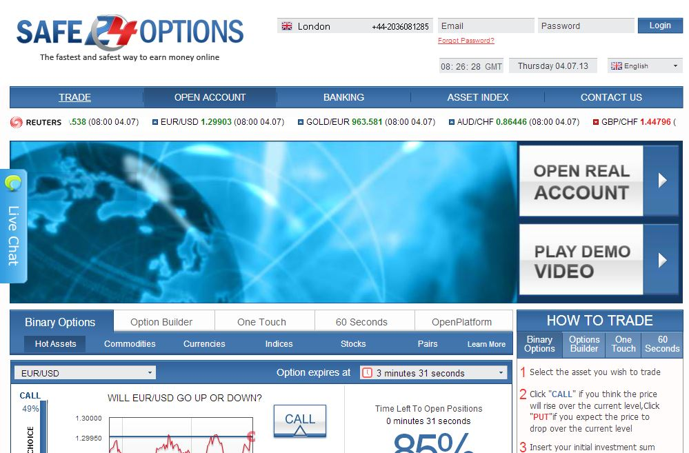 Safest binary options brokers